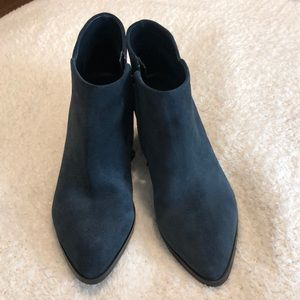 Marc Fisher Blue Suede Ankle Boots